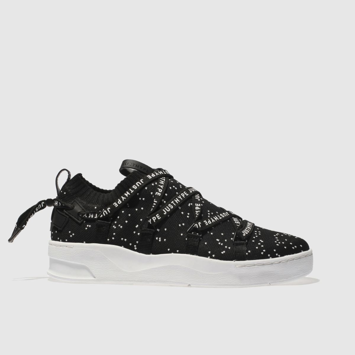 Hype Black Spec Tape Cup Trainers