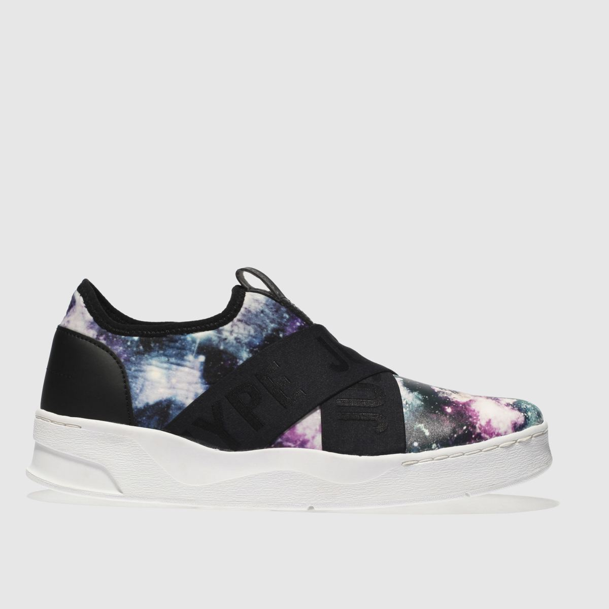 Hype Black & Purple Space Cup Trainer Trainers