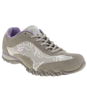 Womens Skechers Light Grey Speedsters Nottingham Trainers