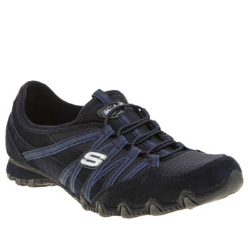 Womens Skechers Navy & Pl Blue Bikers Hot Ticket Trainers