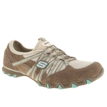 Womens Skechers Beige Bikers Hot Ticket Stereo Trainers