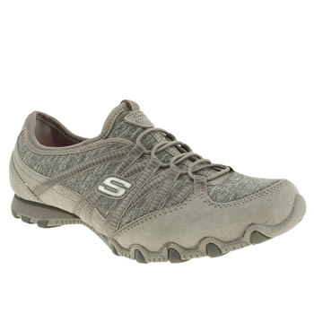womens skechers grey bikers sole attraction trainers