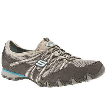 Womens Skechers Grey Bikers Hot Ticket Trainers