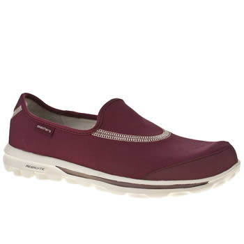 Skechers Burgundy Go Walk Trainers
