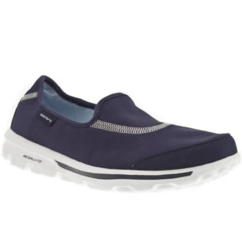 womens skechers navy go walk trainers