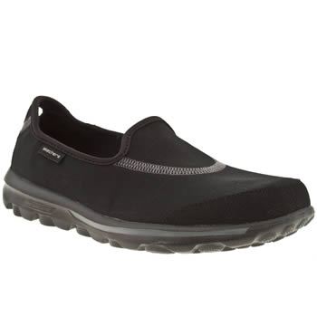 womens skechers black go walk trainers
