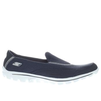 Womens Skechers Navy & White Go Walk 2 Trainers