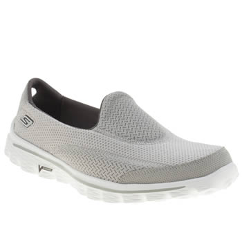 Womens Skechers Grey Go Walk 2 Trainers