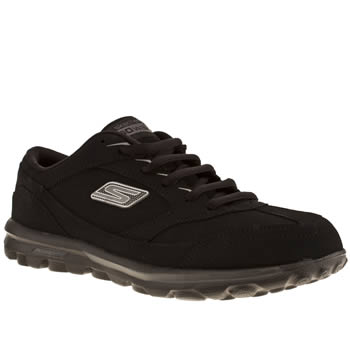 womens skechers black go walk enlighten trainers