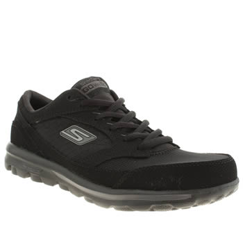 Womens Skechers Black Go Walk Baby Trainers