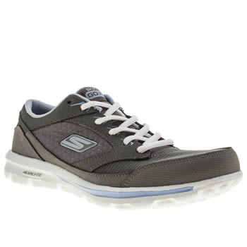 womens skechers grey go walk baby trainers