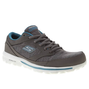 Womens Skechers Dark Grey Go Walk Baby Dynamic Trainers