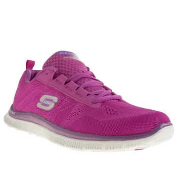 Womens Skechers Pink Flex Appeal Sweet Trainers