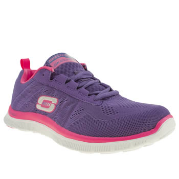 womens skechers purple flex appeal sweet trainers