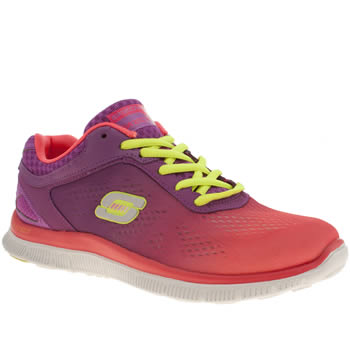 womens skechers purple flex appeal style icon trainers