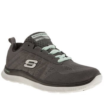 Womens Skechers Grey Flex Appeal Sweet Trainers