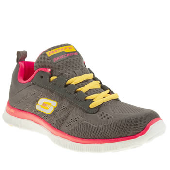 Skechers Dark Grey Flex Appeal Sweet Spot Trainers