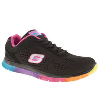 Womens Skechers Black & pink Flex Appeal Style Trainers