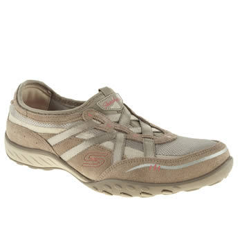 Skechers Beige Breath Easy Trainers
