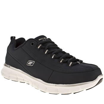 womens skechers navy synergy trend setter trainers