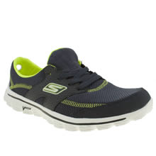 Navy & Green Skechers Go Walk 2 Stance