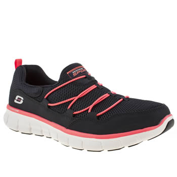 Womens Skechers Navy Synergy Loving Life Trainers