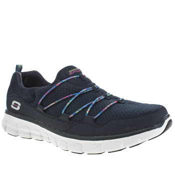 Womens Skechers Navy & White Synergy Good Stuff Trainers