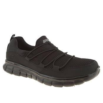 Womens Skechers Black Synergy Loving Life Trainers