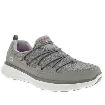Womens Skechers Grey Synergy Asset Trainers