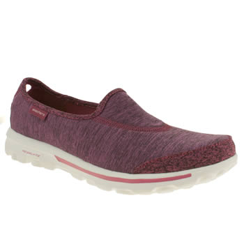 womens skechers pink go walk interval trainers