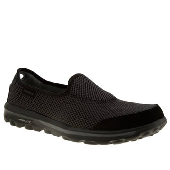 Skechers Black & Silver Go Walk Rival Trainers