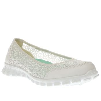 Skechers White Ez Flex 2 Womens Trainers