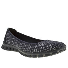 Navy & Silver Skechers Ez Flex 2 Illuminate