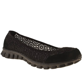 Womens Skechers Black Sweetpea Trainers