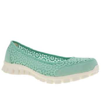 Skechers Light Green Ez Flex 2 Flightly Womens Trainers