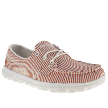 Skechers White & Red On The Go Sail Trainers