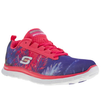 Womens Skechers Pink Flex Appeal Trade Winds Trainers