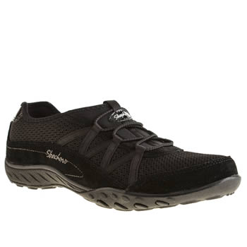 womens skechers black breathe easy relaxation trainers