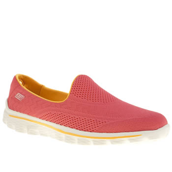Womens Skechers Pink Go Walk 2 Hyper Trainers