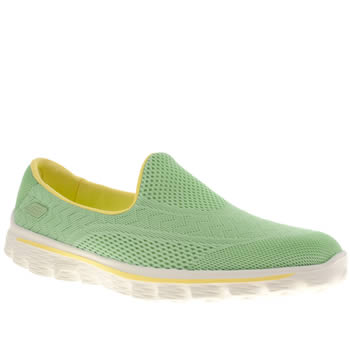 womens skechers turquoise go walk 2 hyper trainers