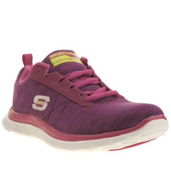 Womens Skechers Pink Flex Appeal Next Generation Trainers