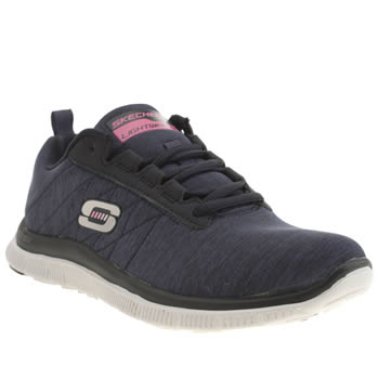 Womens Skechers Navy & White Flex Appeal Next Generation Trainers