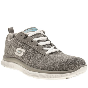 Womens Skechers Grey Flex Appeal Next Generation Trainers
