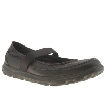 womens skechers black go walk legacy trainers