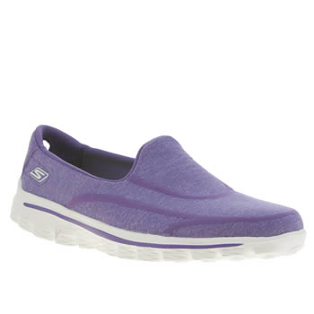 Skechers Purple Gowalk 2 Super Sock Trainers