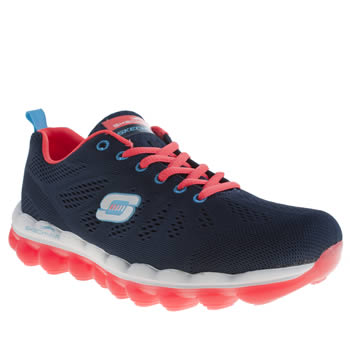 Skechers Navy & White Skech Air Inspire Trainers