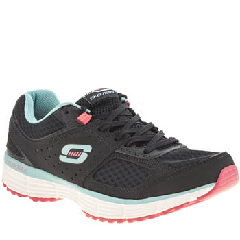 Skechers Navy & Pl Blue Agility Perfect Fit Trainers
