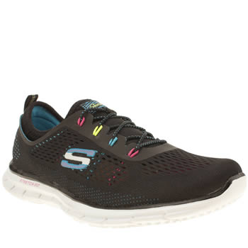 Skechers Black and blue Glider Harmony Trainers