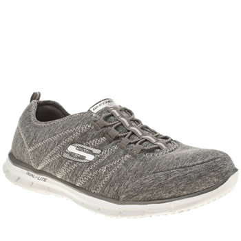 Womens Skechers Grey Glider Harmony Trainers
