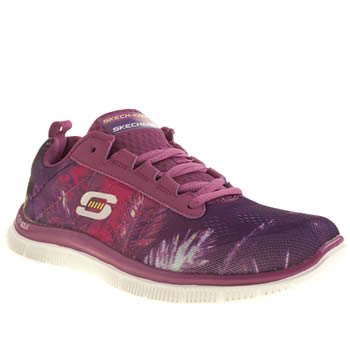 Womens Skechers Purple Flex Appeal Trade Winds Trainers